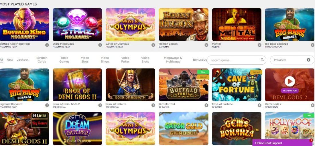 Playouwin Casino Games